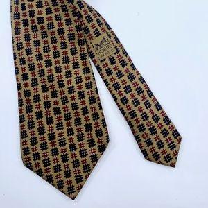 Cross Hatch Pattern Hermes Tie